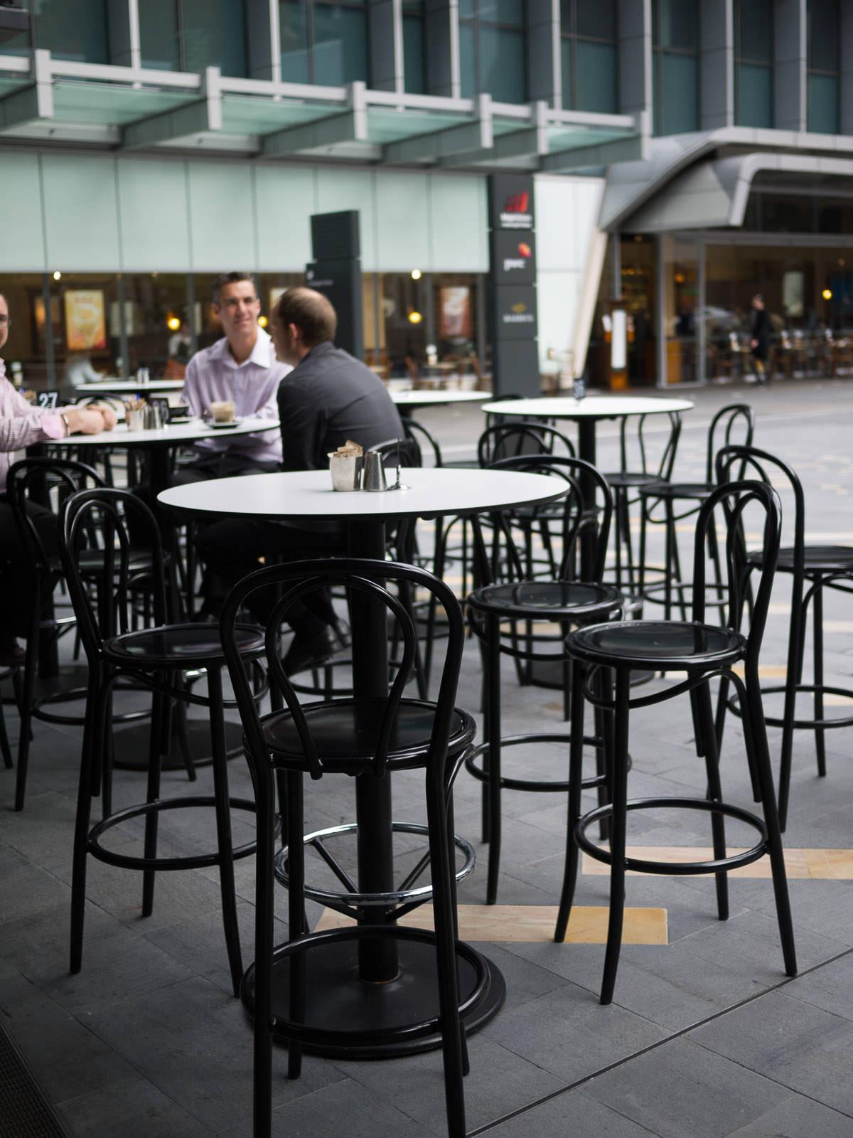 Basilica - outside tables
