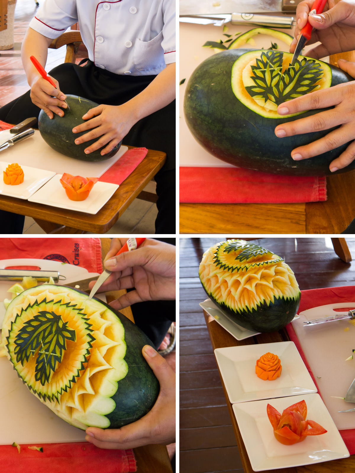 Carving a melon