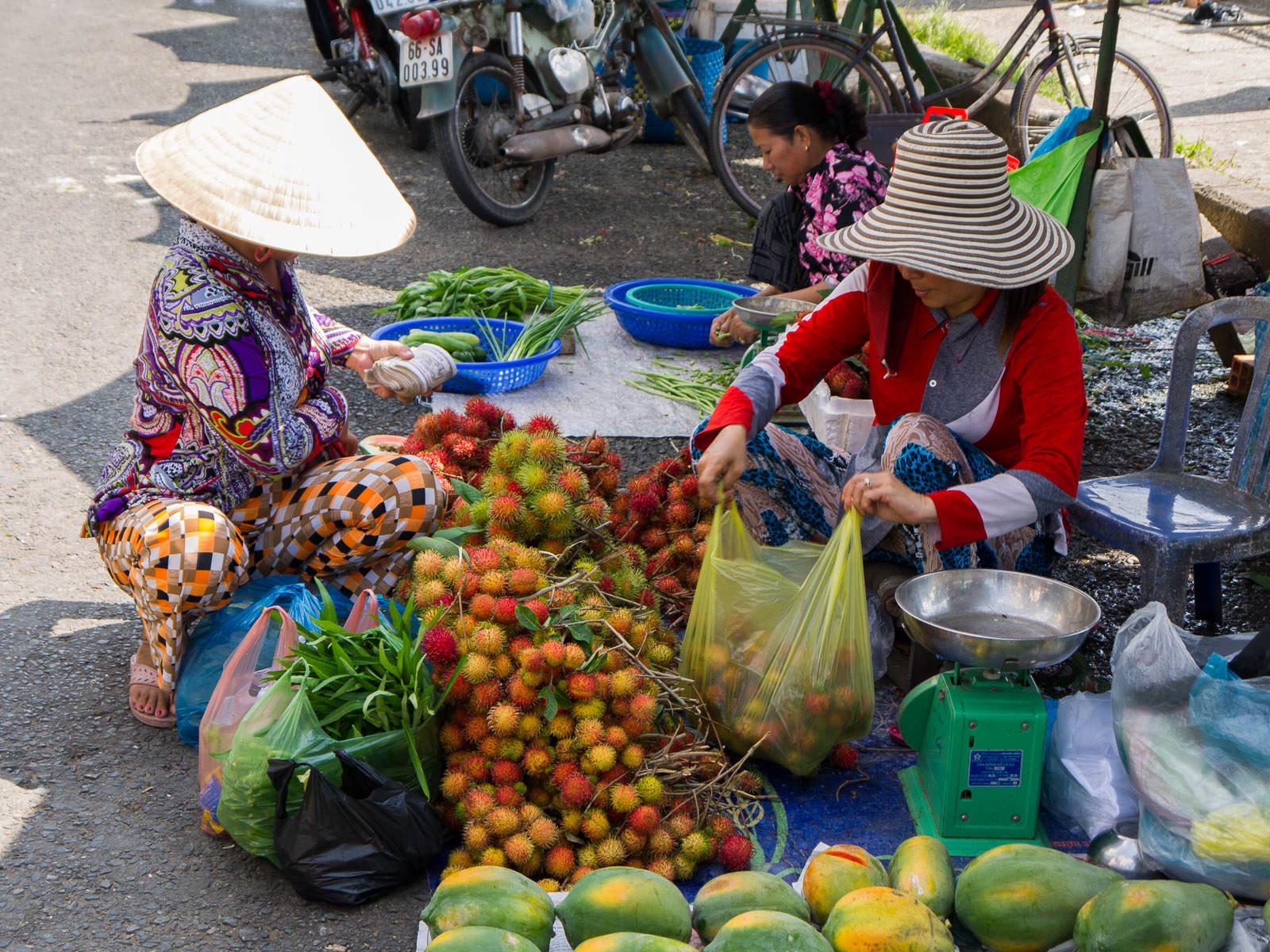 Buying rambutans