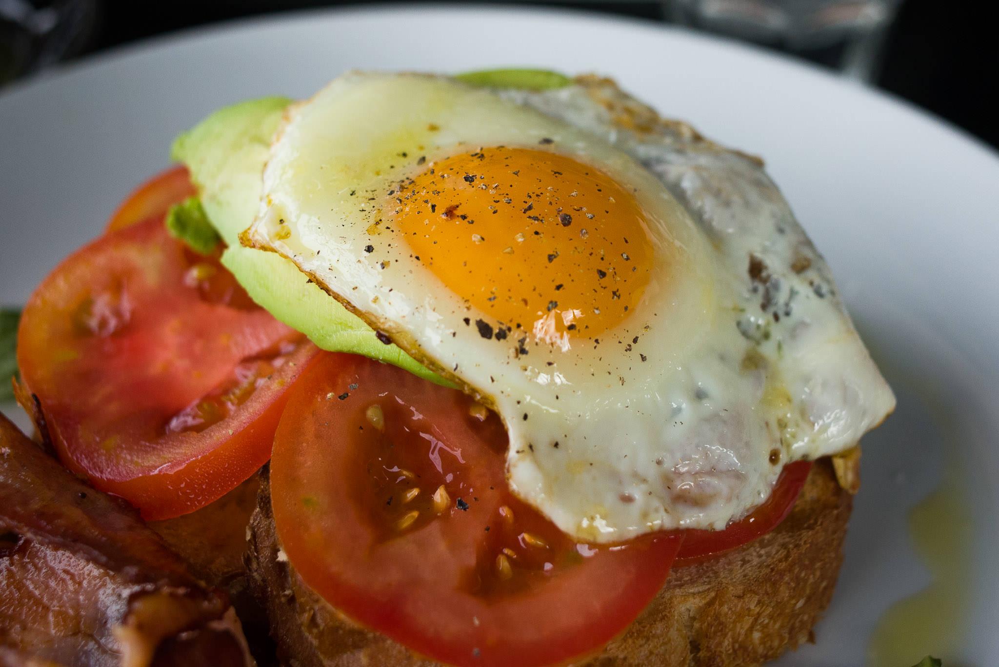 Fried egg close-up