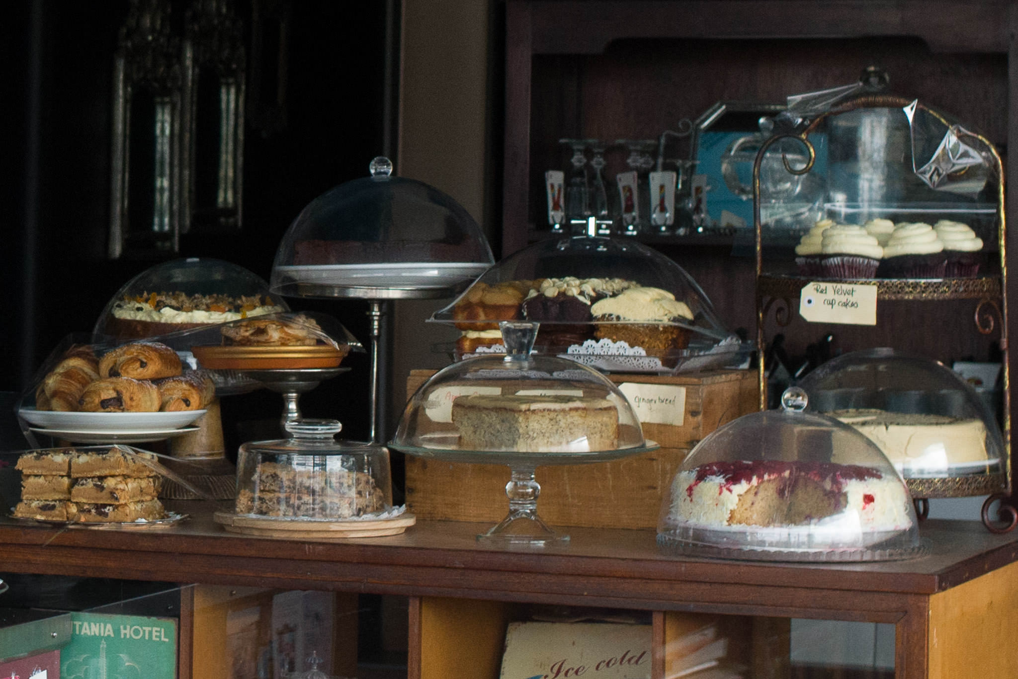Cakes on the counter