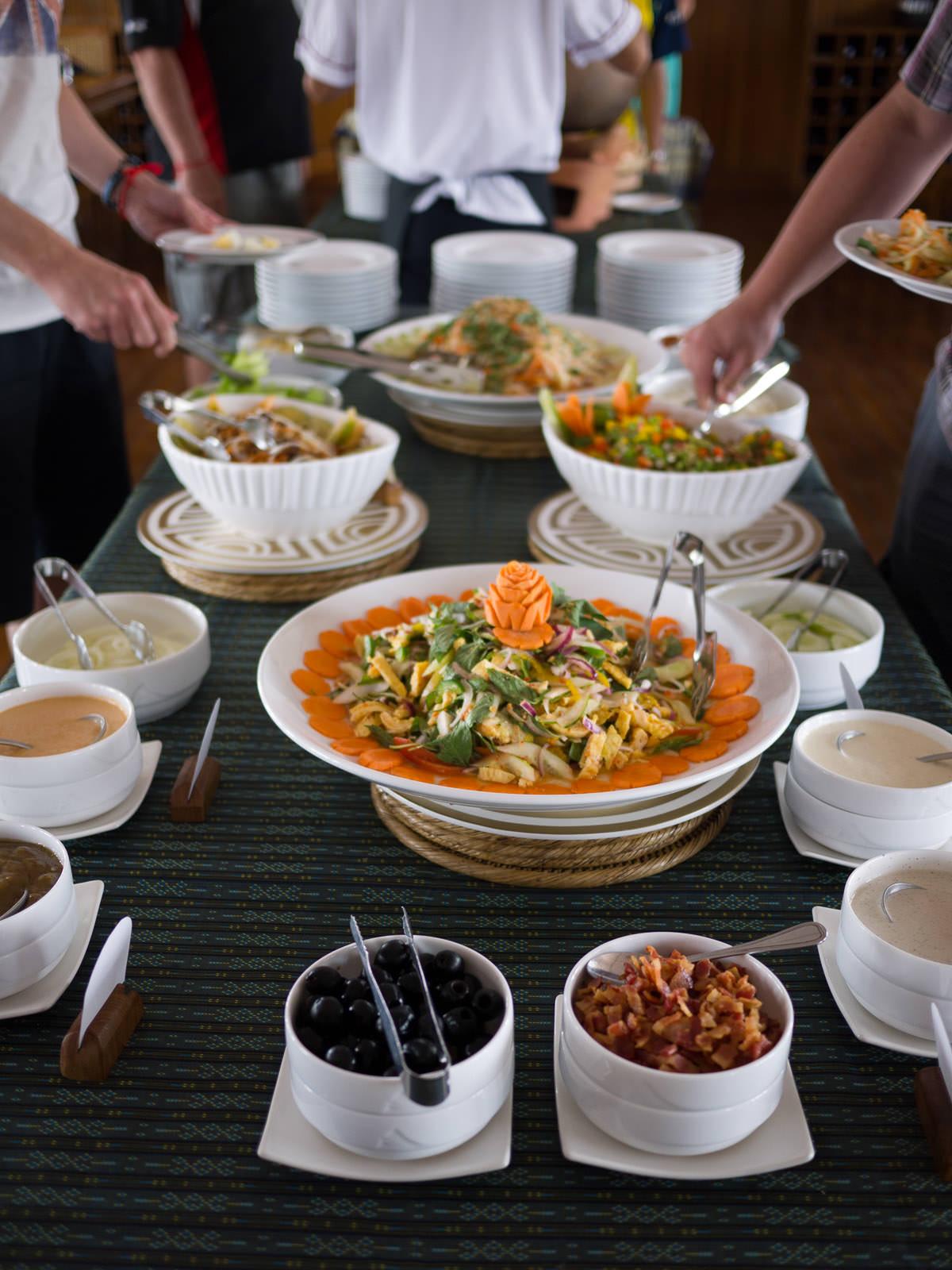 Lunch salad buffet