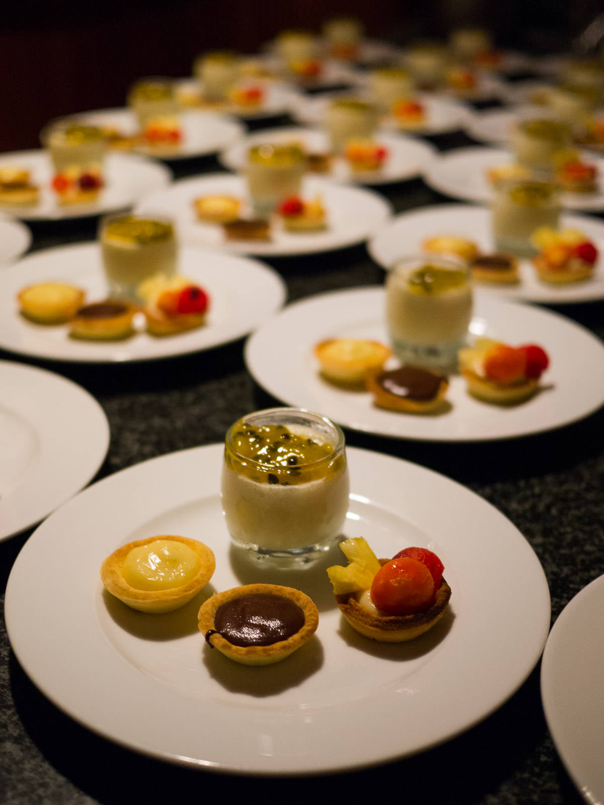 Panna cotta with passionfruit