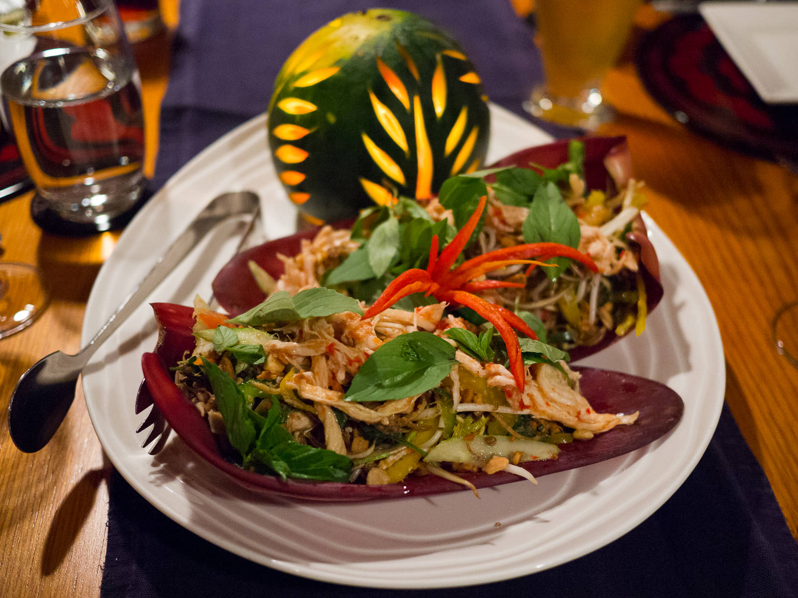 Banana flower salad - dinner starter