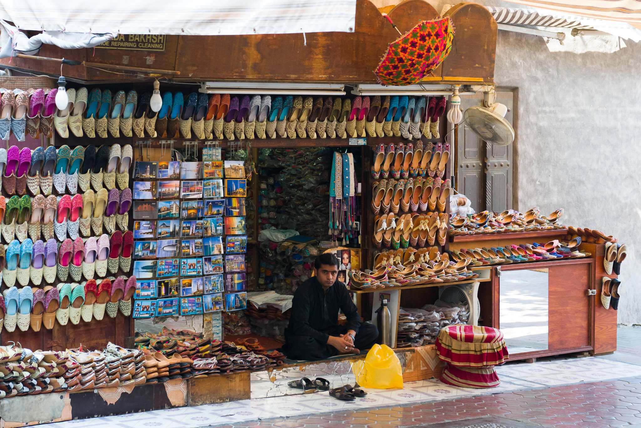 Shoe shop near Indian Textile Market, Dubai