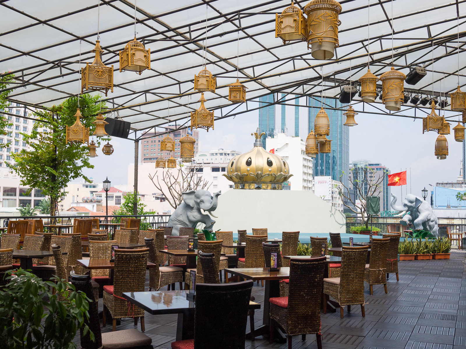 Rooftop bar at Rex Hotel Saigon