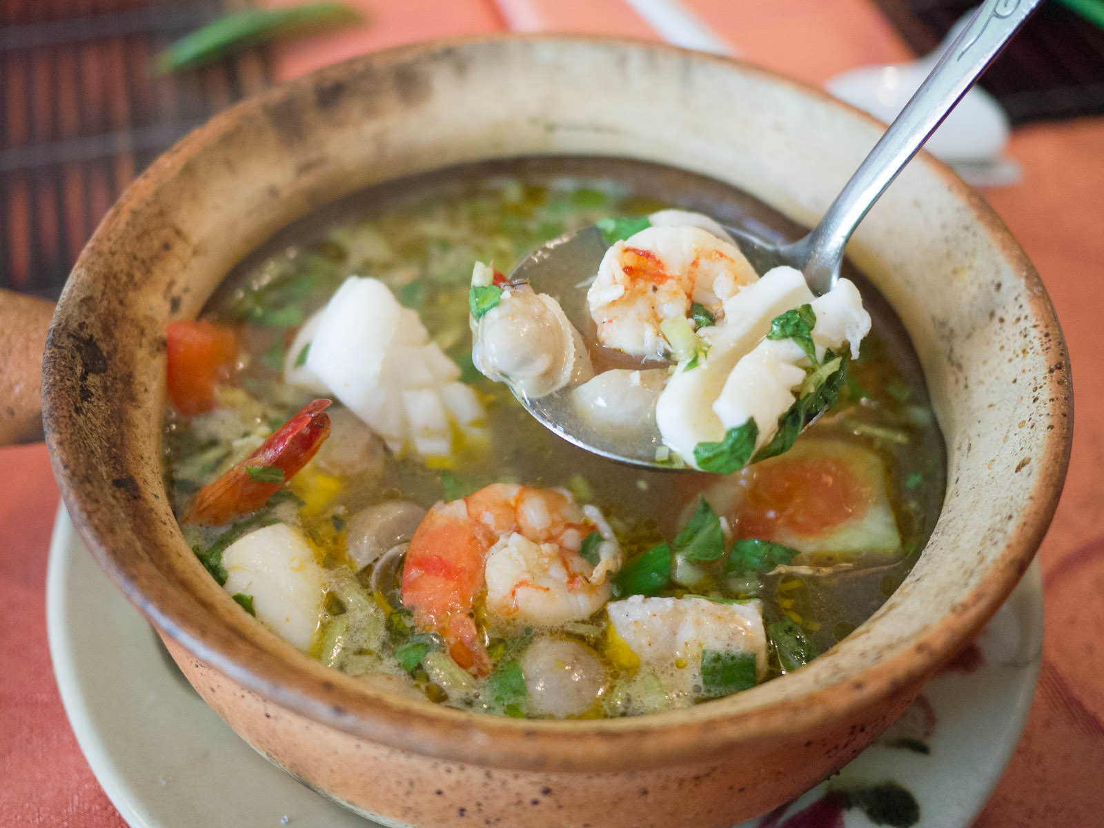 Seafood soup with lemongrass