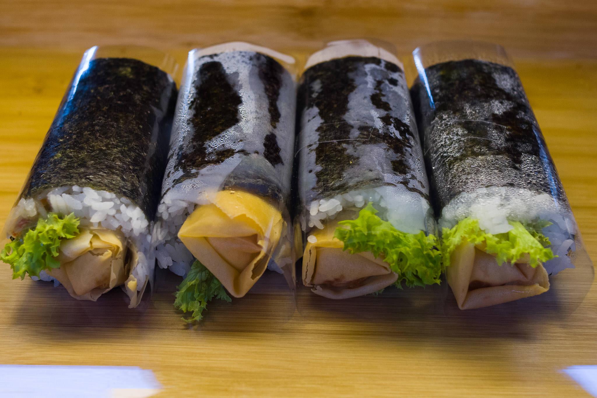 Takeaway spring roll sushi
