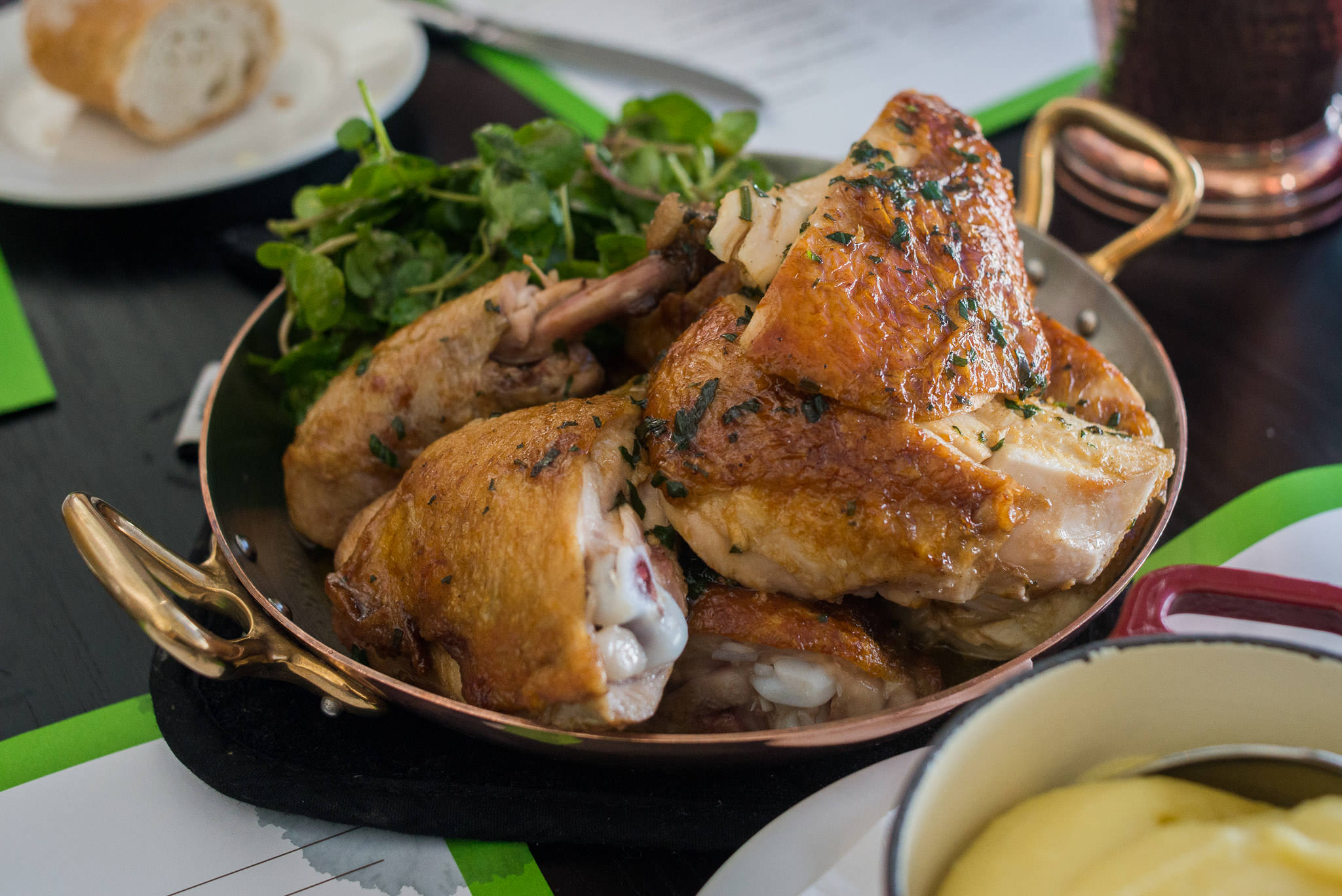 Roasted whole Liveringa organic chicken