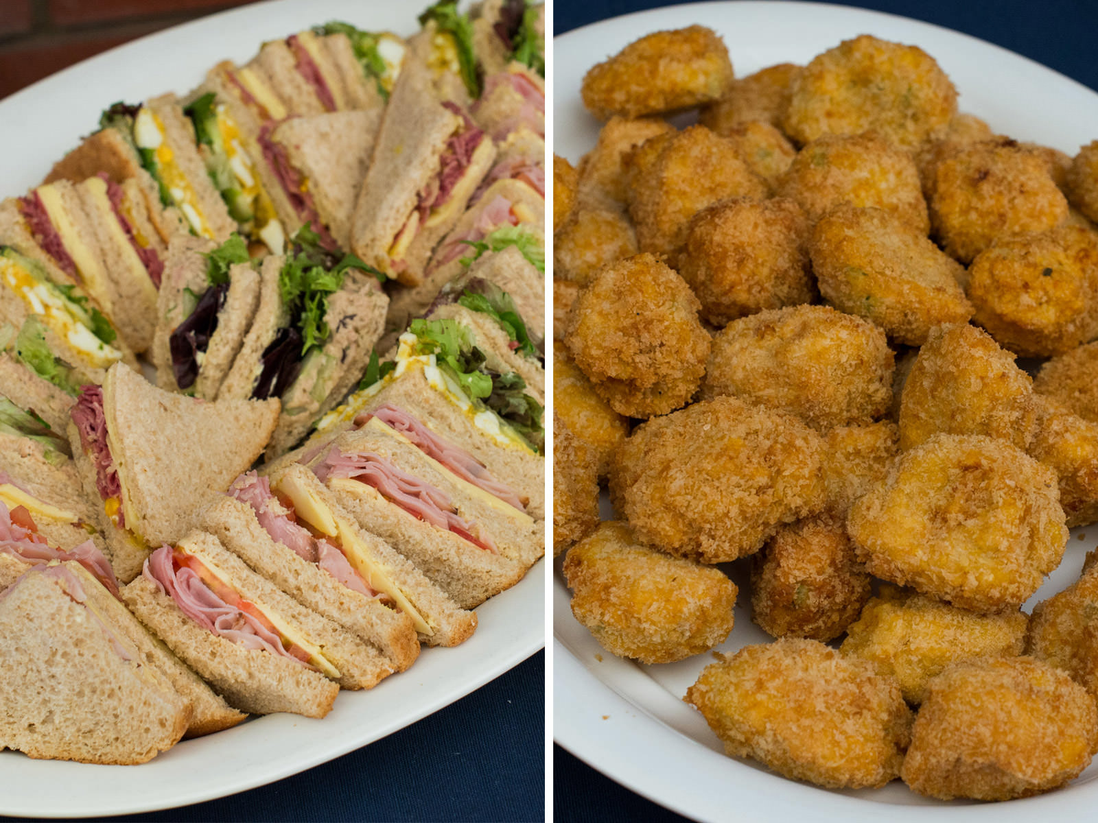 Sandwiches and arancini