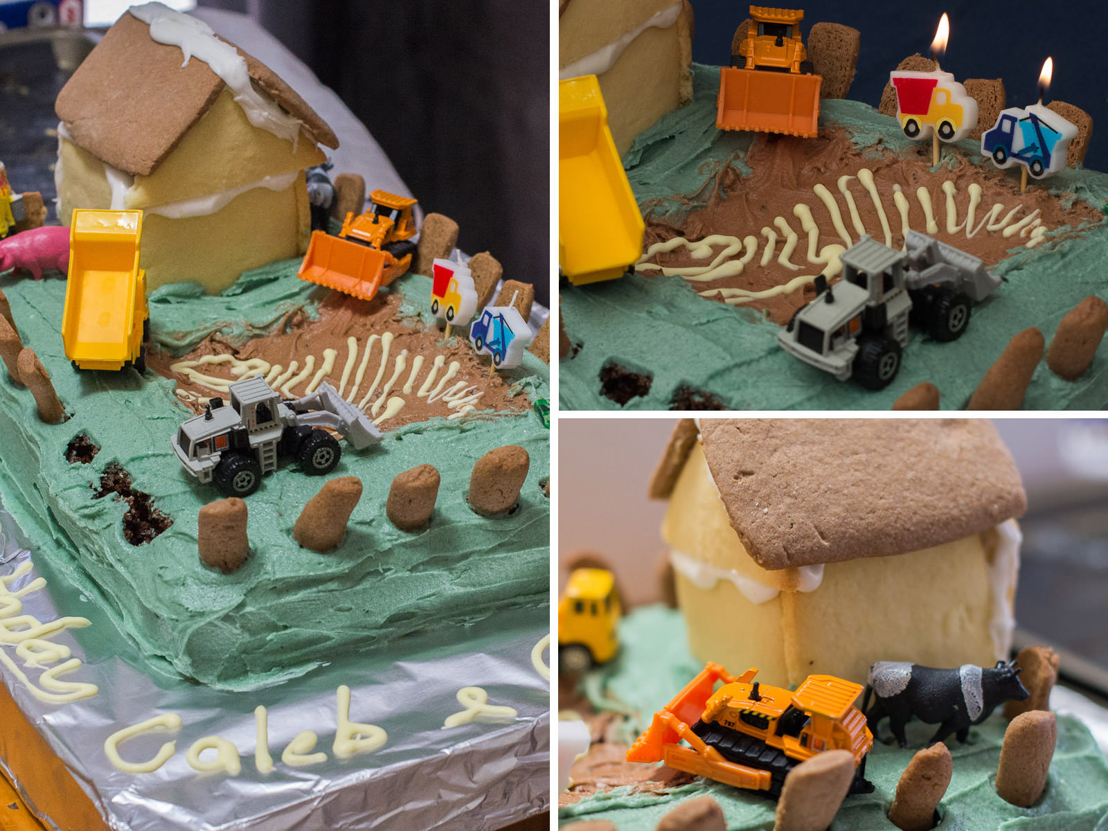 Grace and Caleb's Bigger Digger 2nd birthday cake.