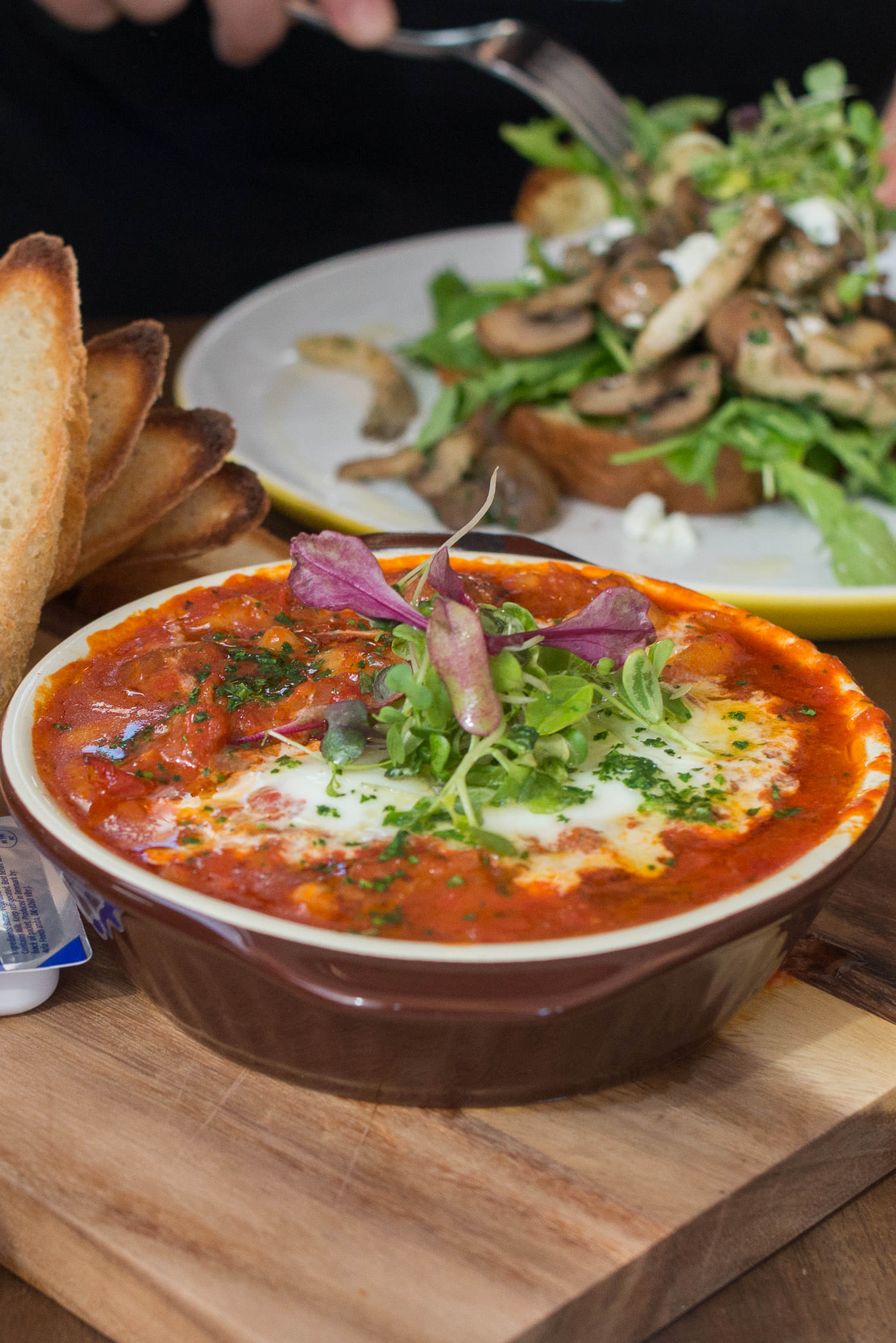 Harvest Spanish baked egg (AU$17)