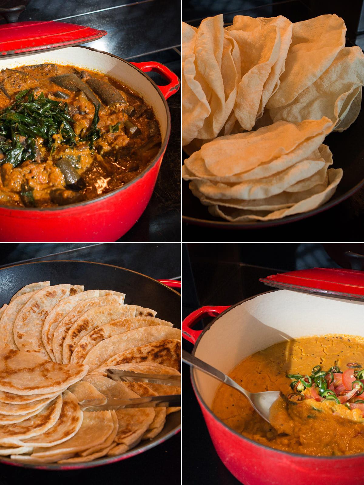 Indian curries and breads