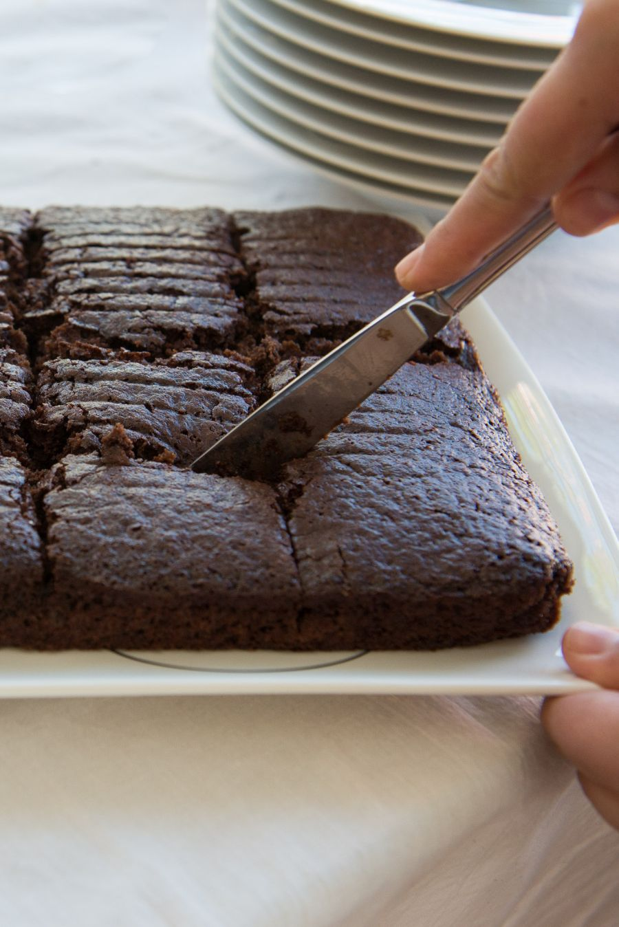 Carving up the Coca-Cola brownies