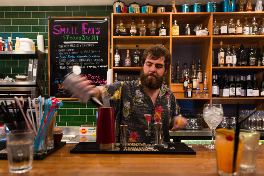 Barman Bill making Cynthia's Surprise