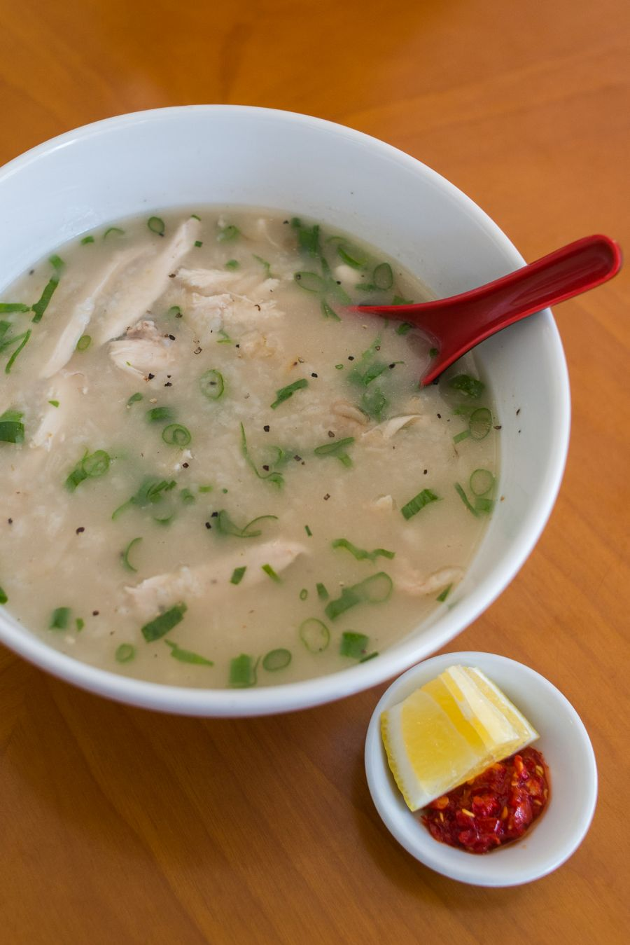 Chao ga - chicken porridge (AU$12)