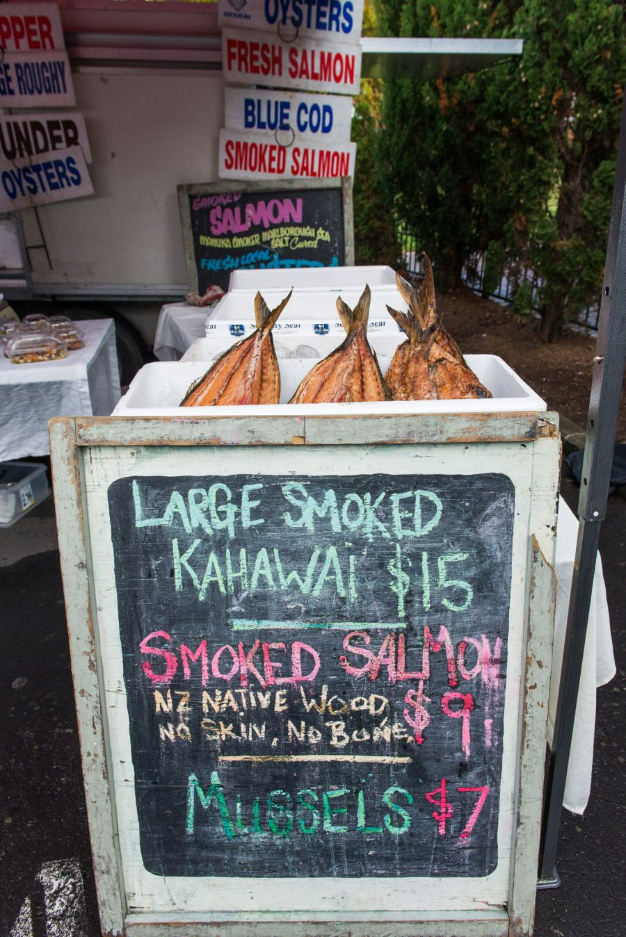Smoked fish at Parnell Farmers Market