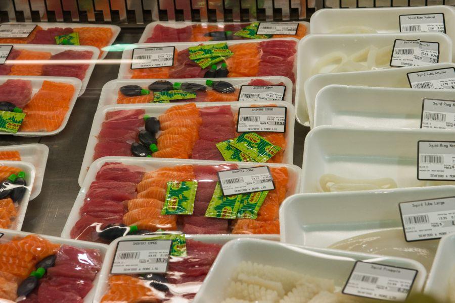 Sashimi and calamari