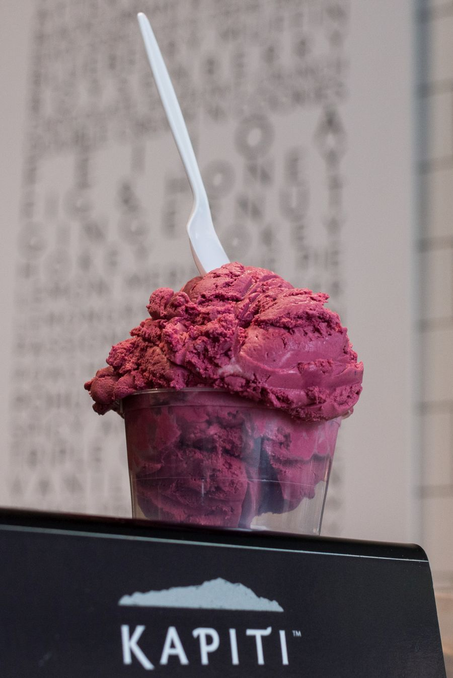 Black Doris plum and creme fraiche ice cream, Kapiti Store, Auckland