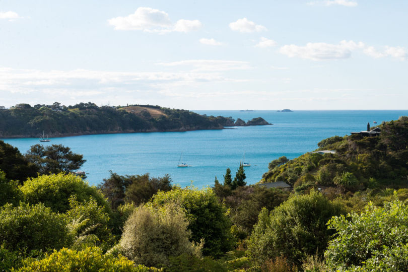 View from our holiday apartment on Waiheke Island, New Zealand