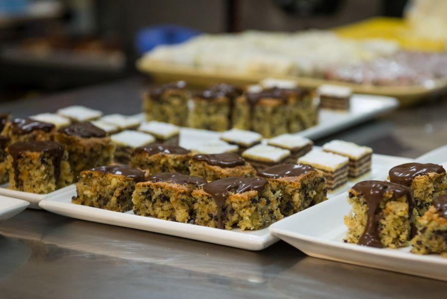 Kolac (Croatian torta) and Napolitanki (chocolate, hazelnut wafers)
