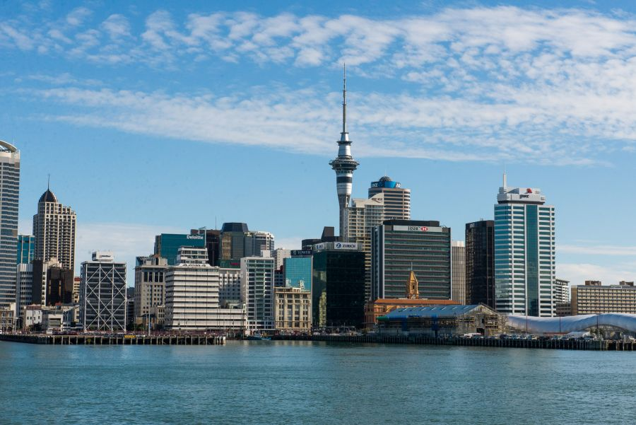 Approaching Auckland (on Devonport to Downtown ferry)