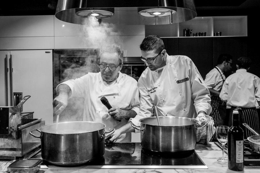 Chefs Giuseppe Pagliaricci (Perugino) and Egidio Squillace (Event Style)