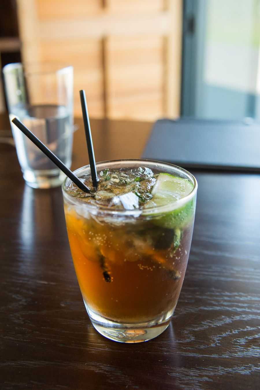 Mosquito mocktail: fresh lime, fresh mint, ginger ale, sugar syrup (NZ$8)