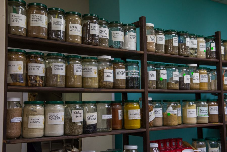 Spices and dry goods at Chantal Wholefoods