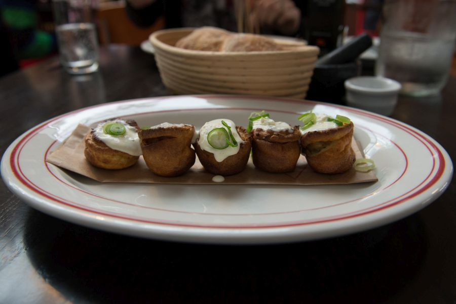 Yorkshire pudding, bone marrow, horseradish cream (NZ$12)