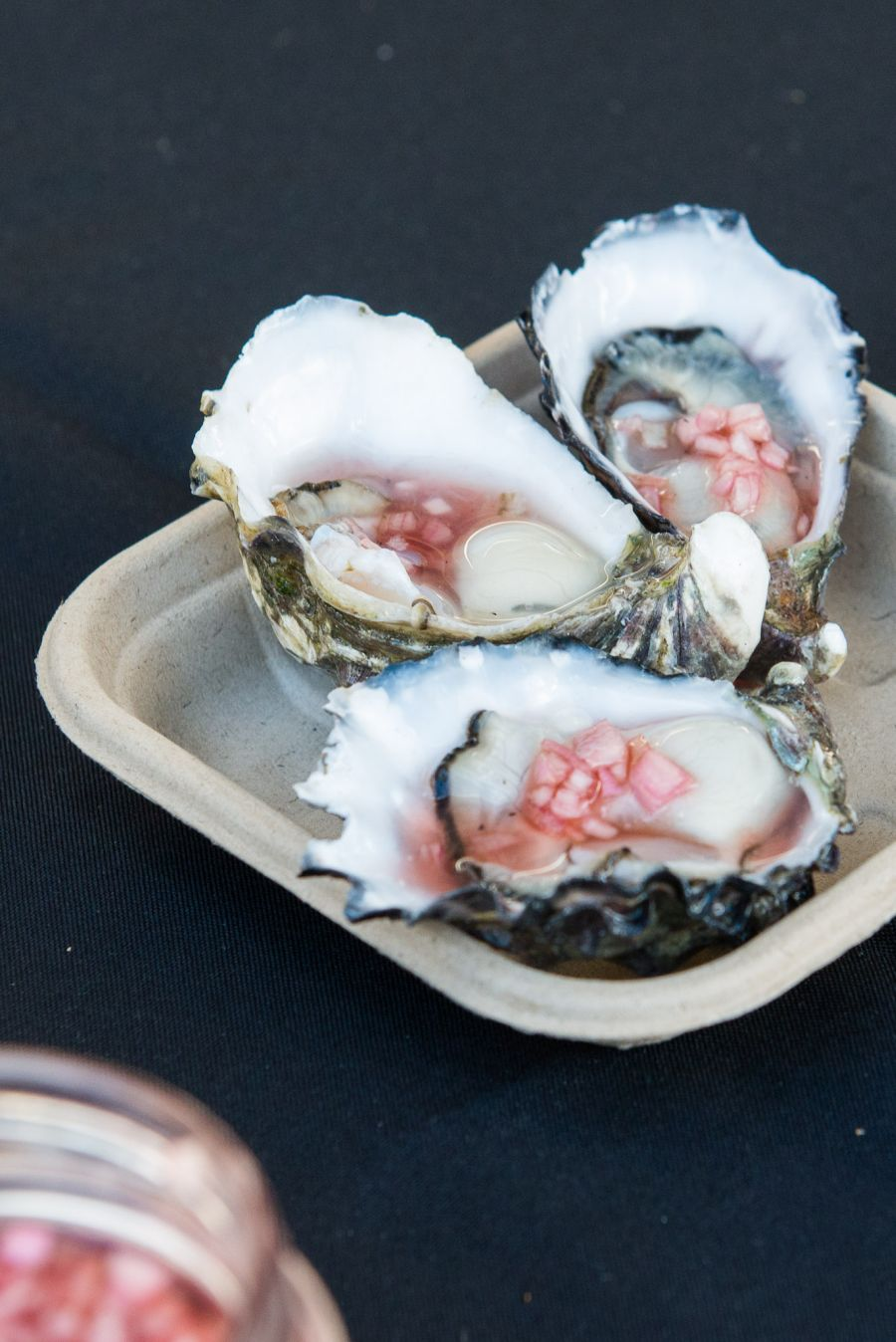 Three coffin bay oysters