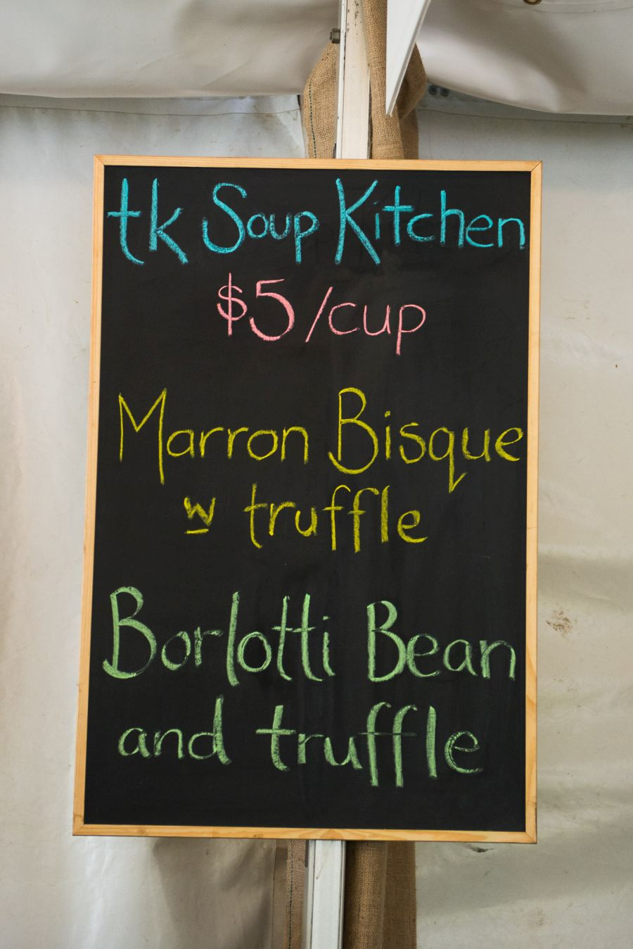TK Soup Kitchen sign