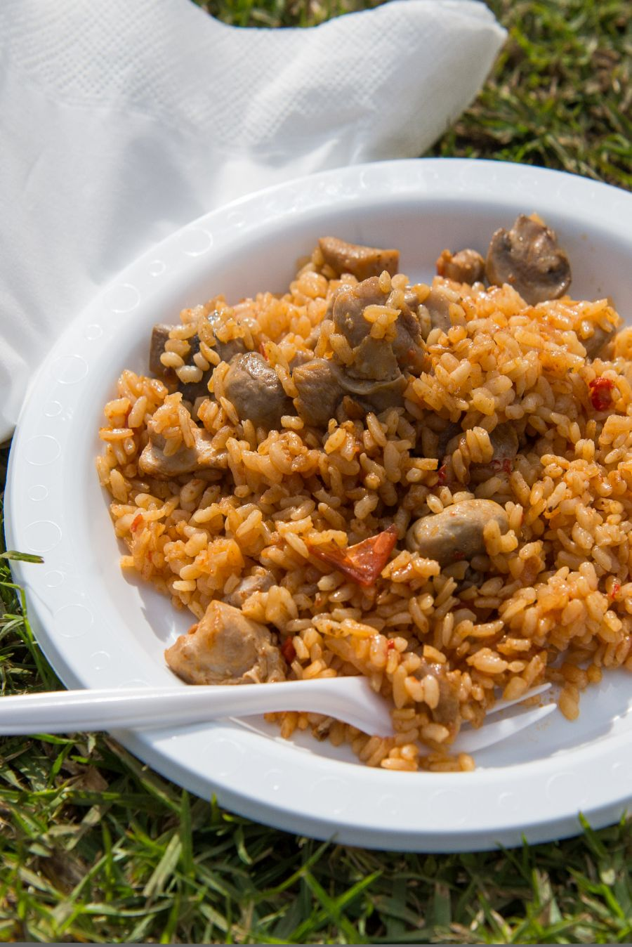 Chicken and mushroom paella with truffle by Xarcuteria