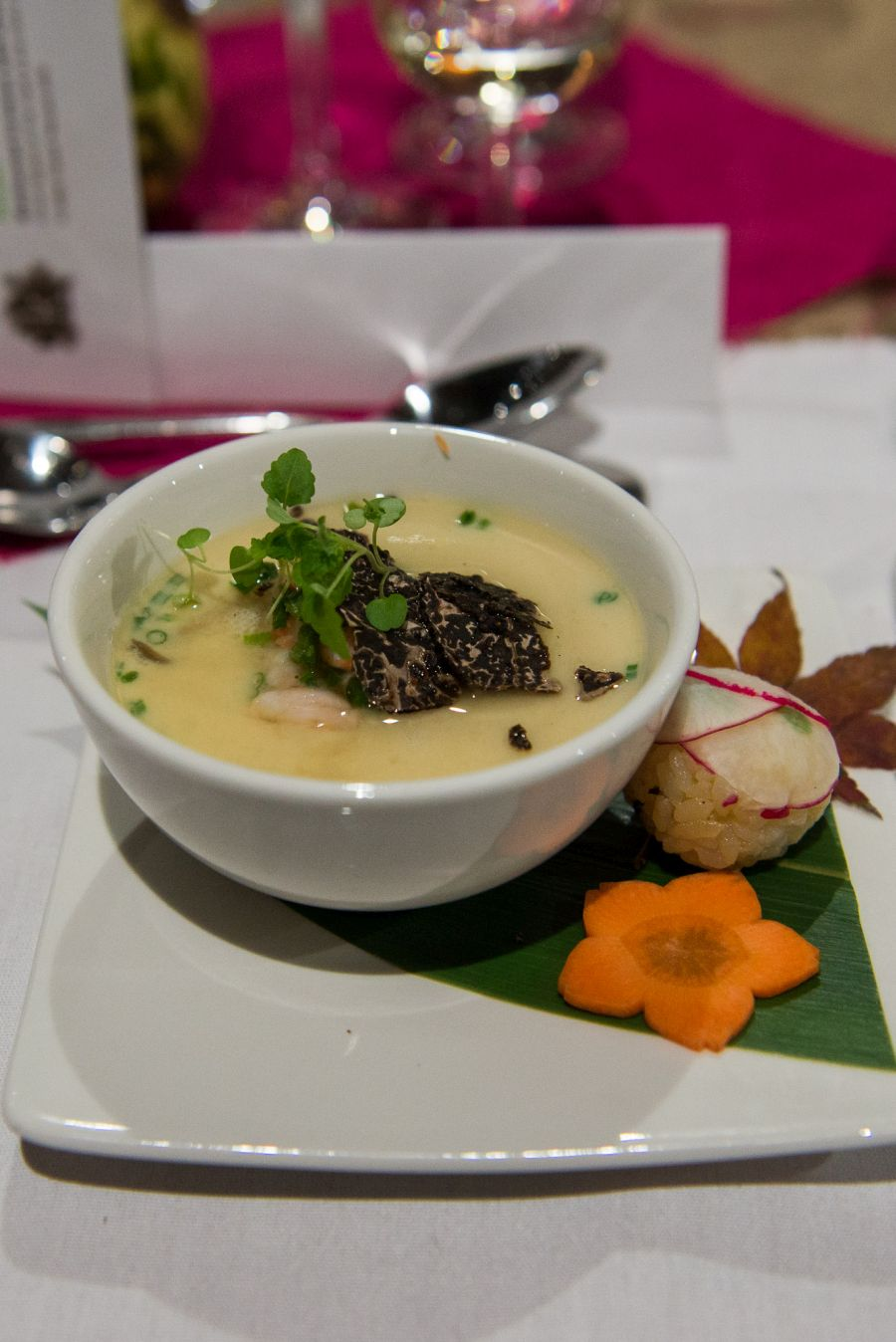 Chawan-mushi with marron and truffle by Shinichi Maeda, Sake Restaurant & Bar Brisbane
