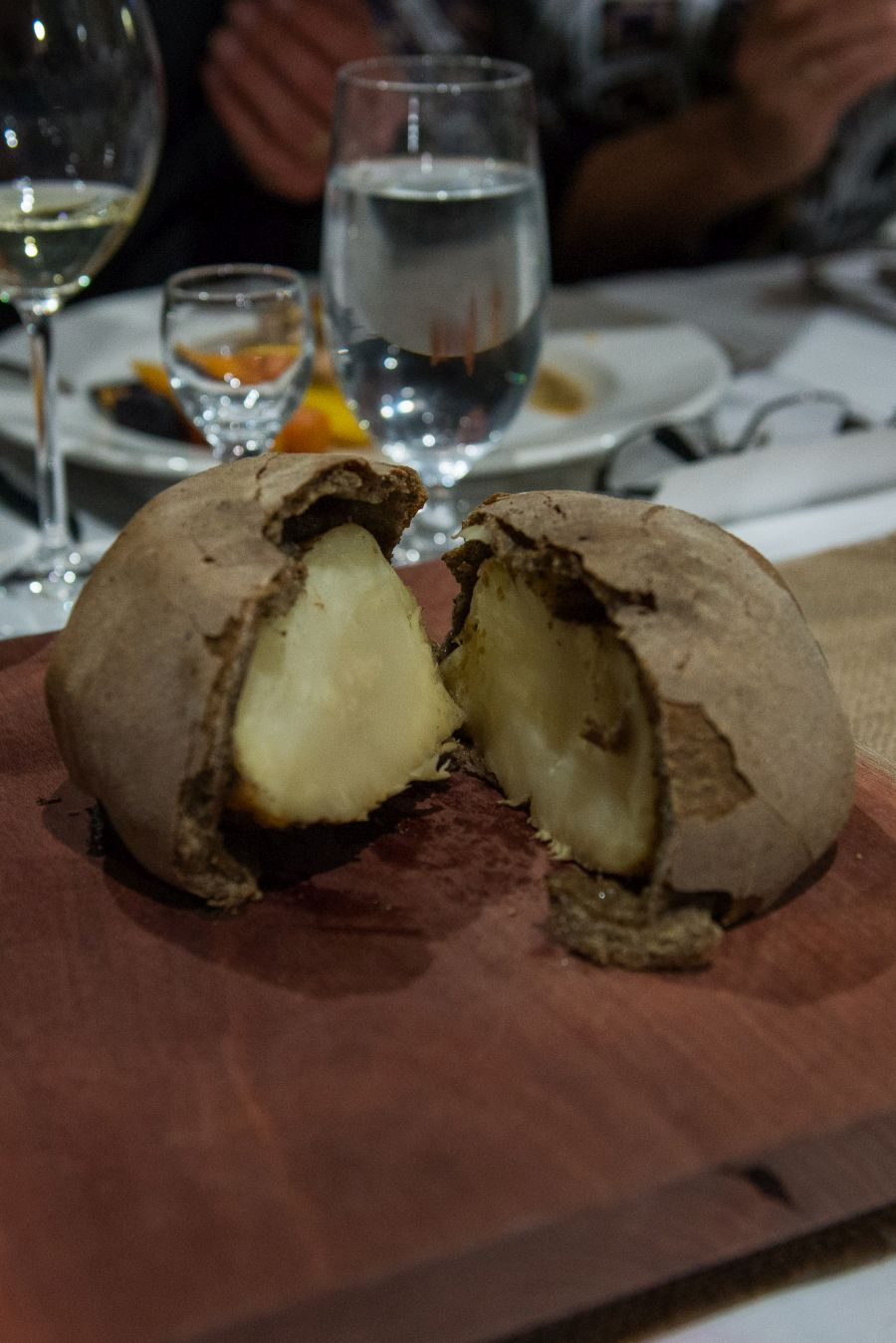 Celeriac baked in a salt crust