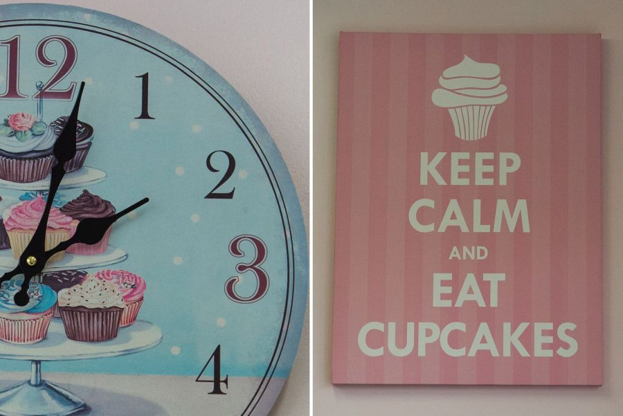 Cupcake clock and Keep calm