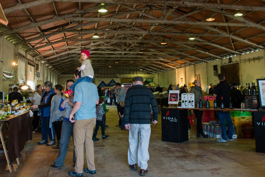 Hawke's Bay Farmers' Market - inside the hall