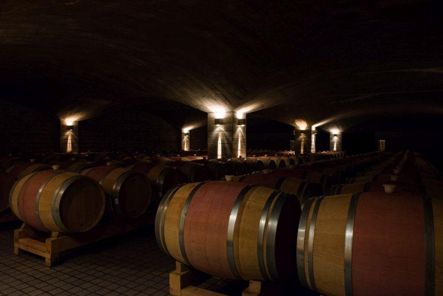 The wine sleeps...