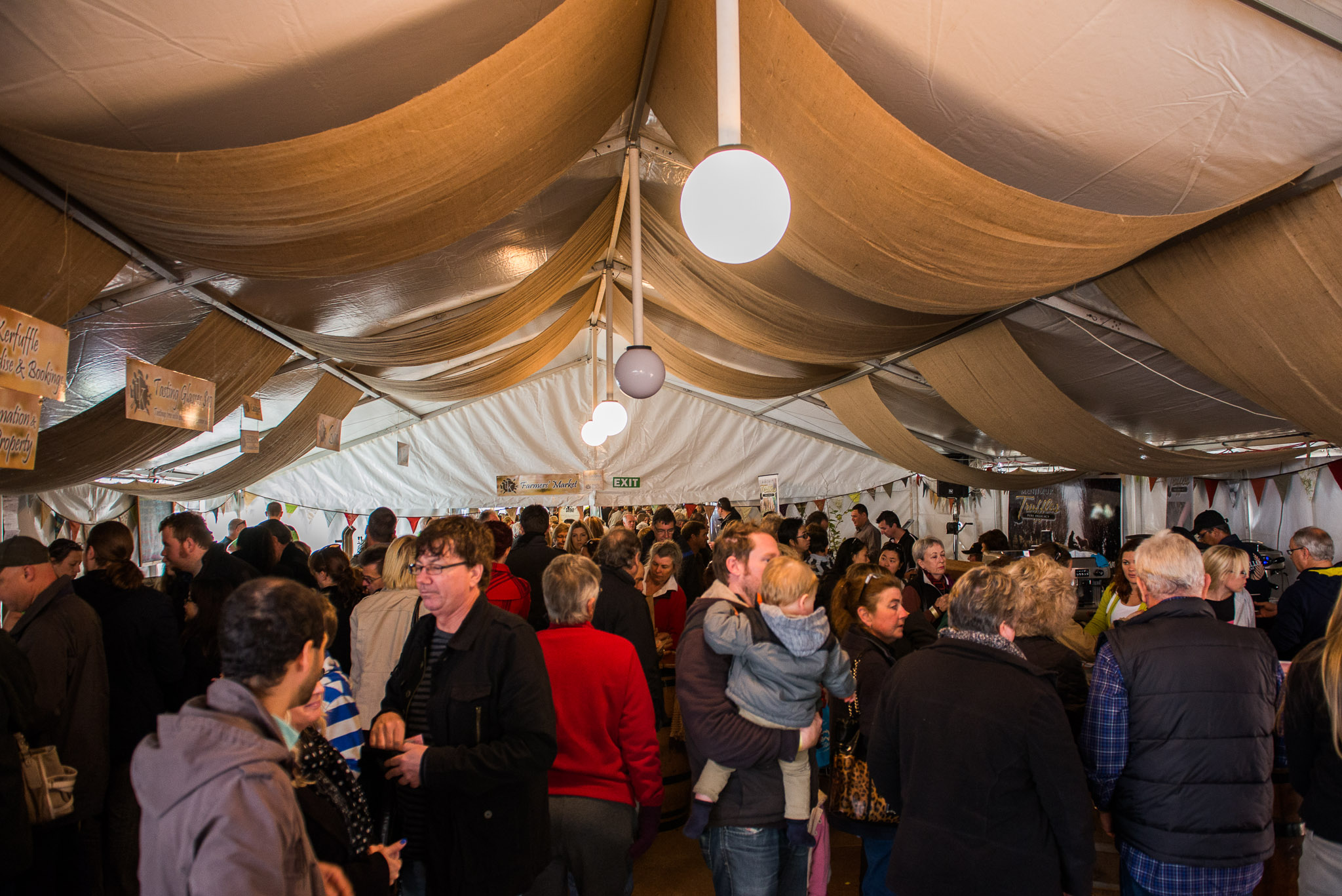 It got crazy busy in the tent!