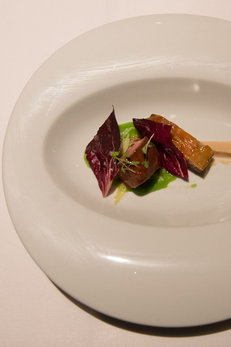 Amelia Park lamb rump and belly, parsley gravy