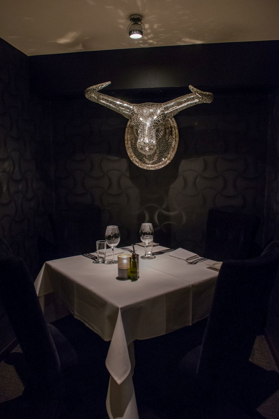 Booths like this provide more intimate dining