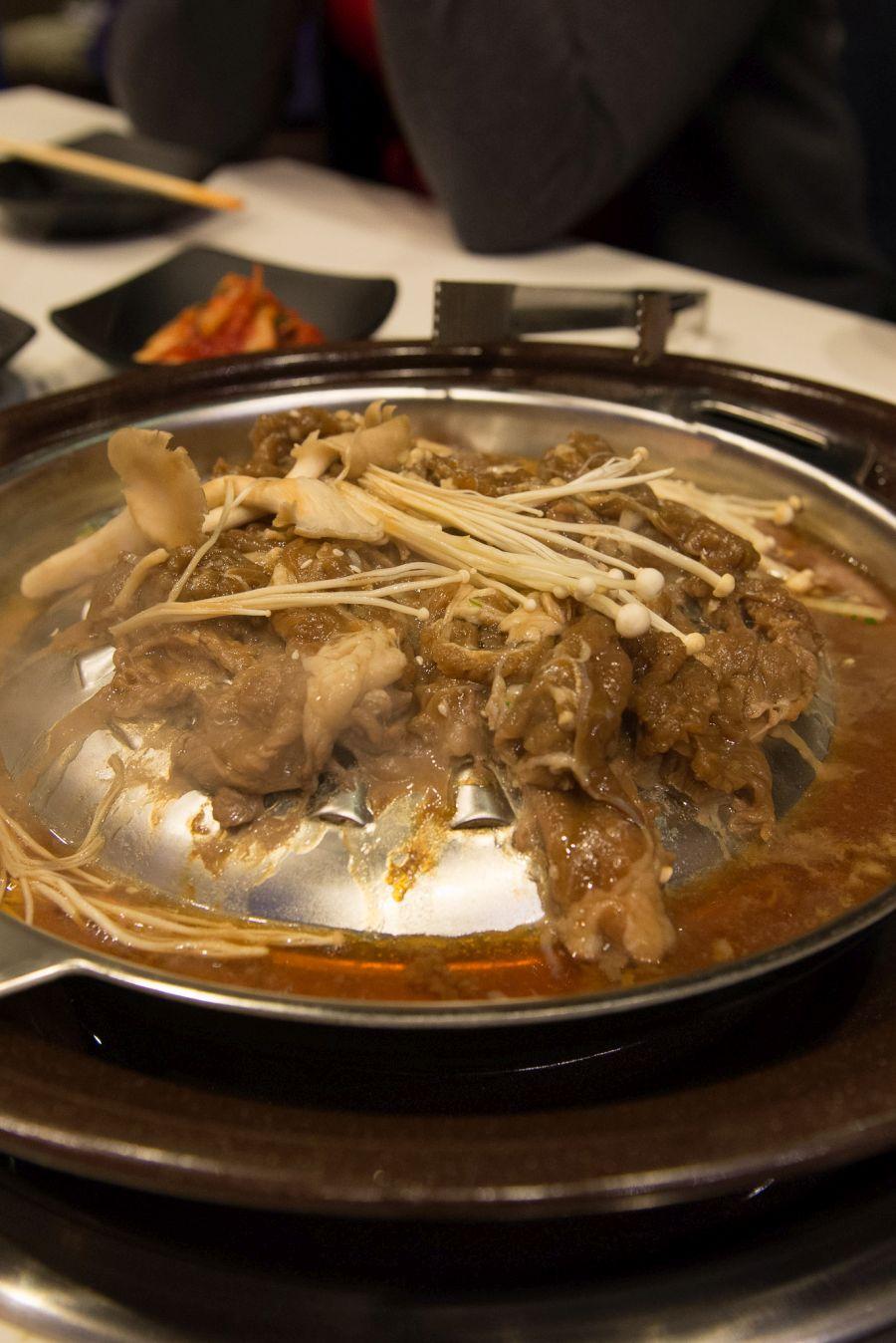 Beef bulgogi BBQ (AU$33)