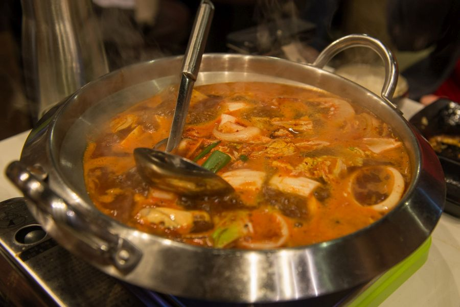 Seafood soybean paste stew - bubbling (part of the Palsaik set)