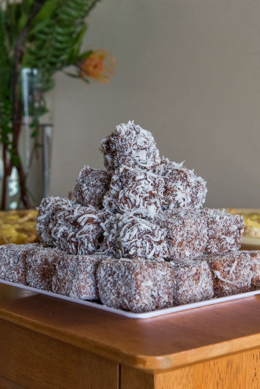 Panna cotta lamingtons