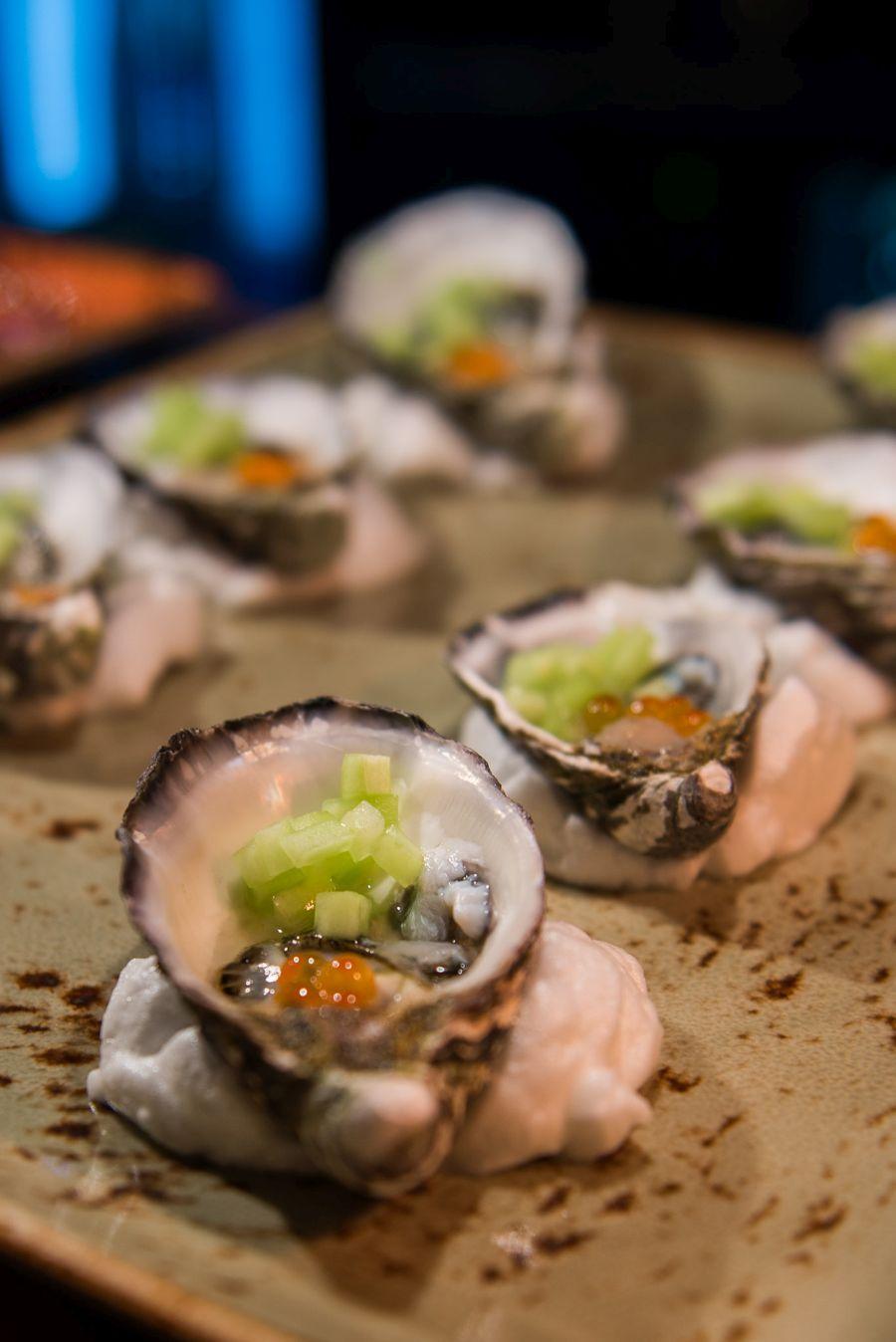 Yuzu oyster with salmon roe (AU$3.50 each)