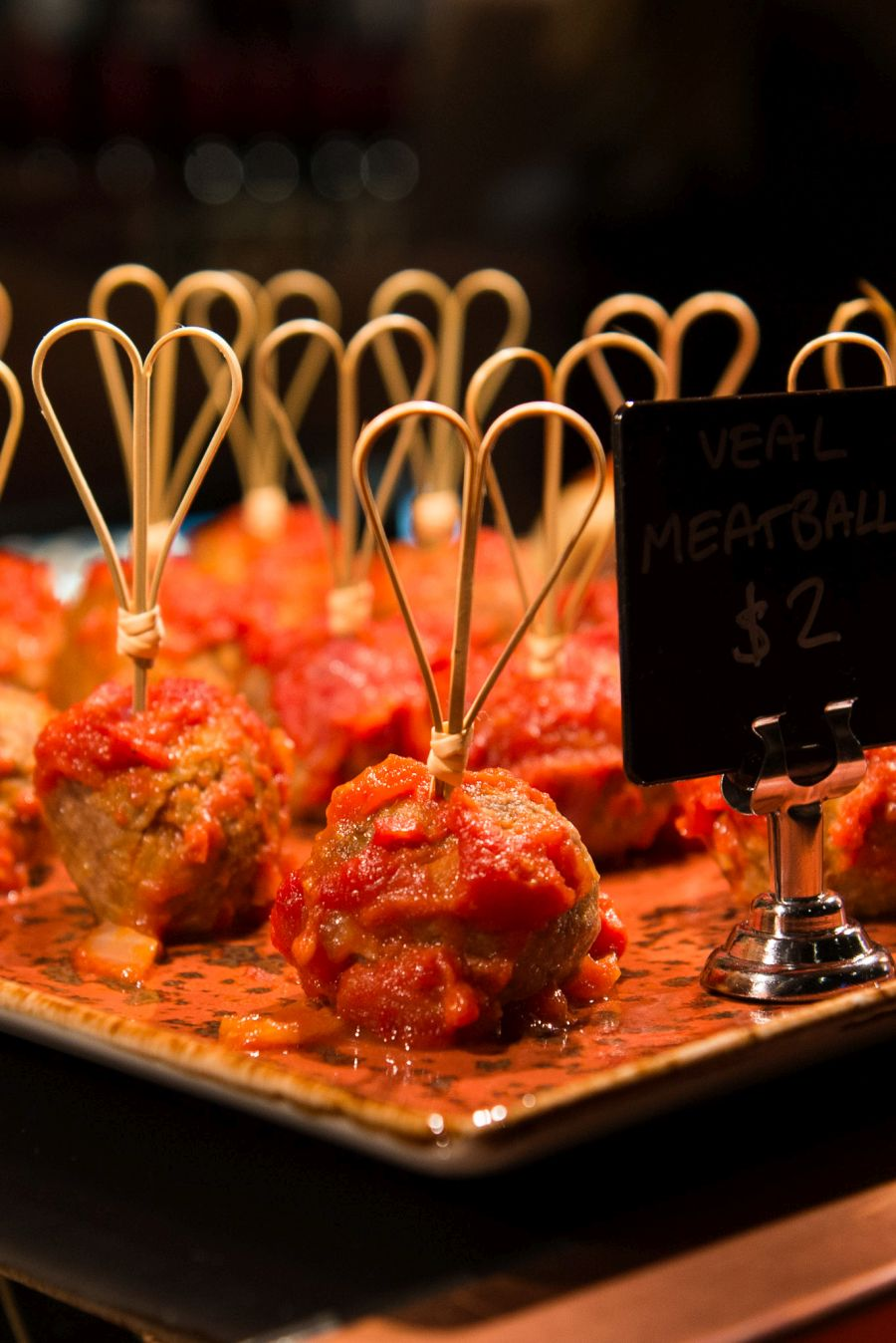 Veal meatballs (AU$2 each)