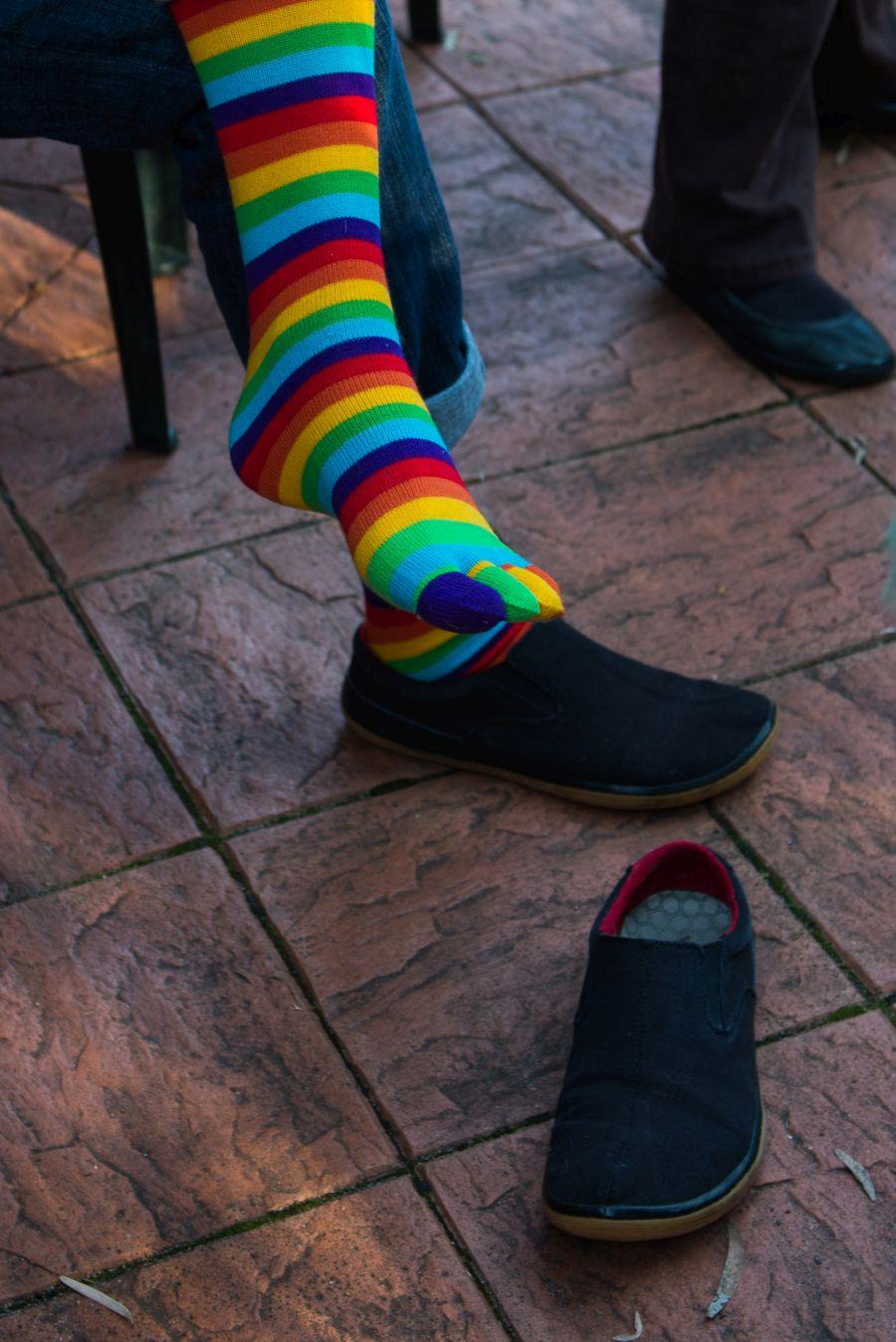 Uncle Mike's rainbow socks