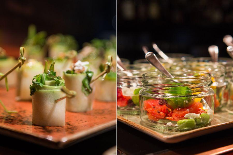 L-R: Rolled apple salad (AU$2), Mediterranean salad (AU$4.50)