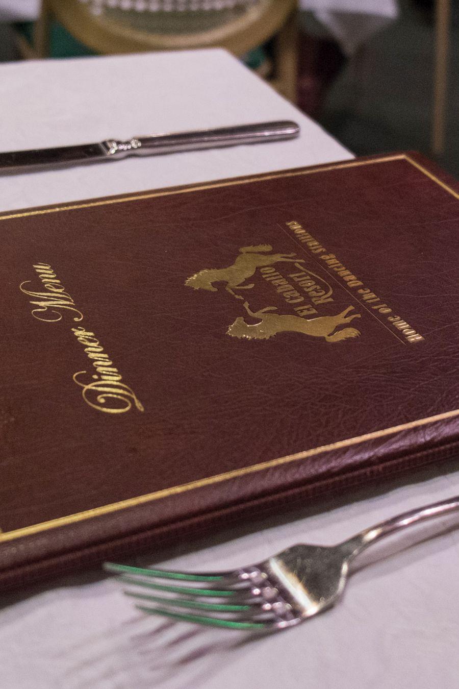 El Caballo restaurant dinner menu