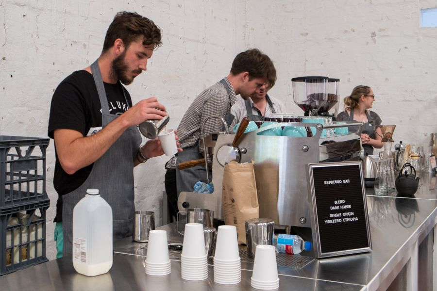 The 5 Senses coffee station was hard at work all day